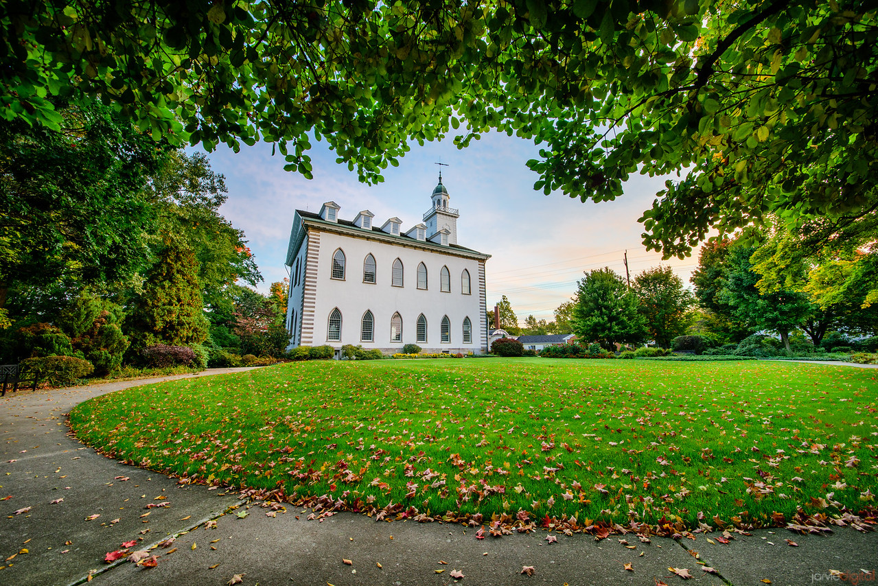 Kirtland Temple - framed by trees