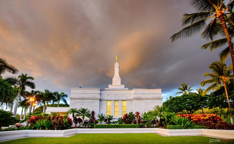 Kona Temple - Side Sunset