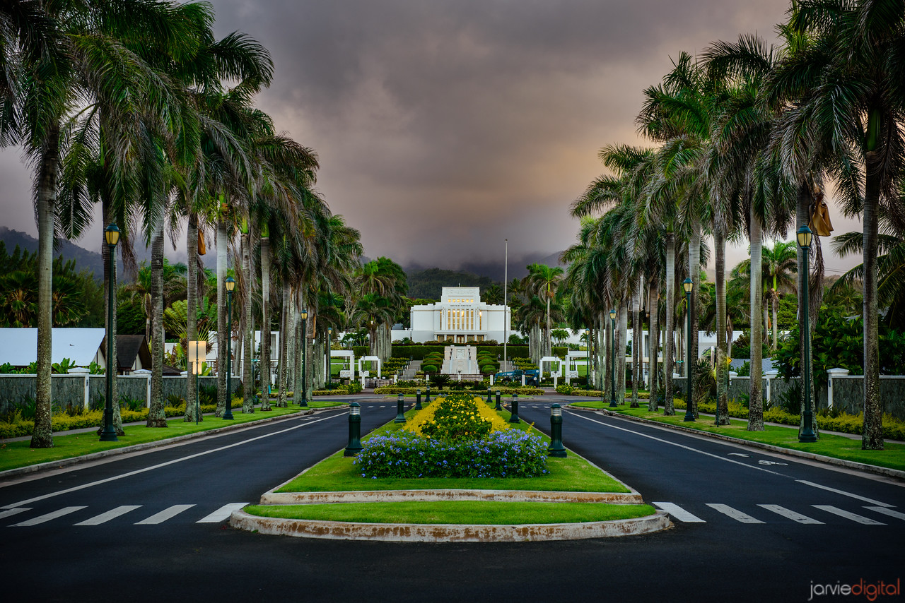 Laie Temple Down Road