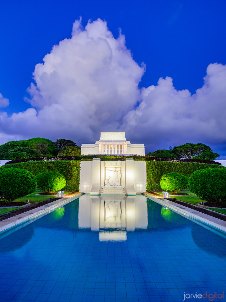 Laie Temple - Blue reflections
