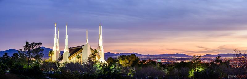 Las Vegas Temple - A light to the city