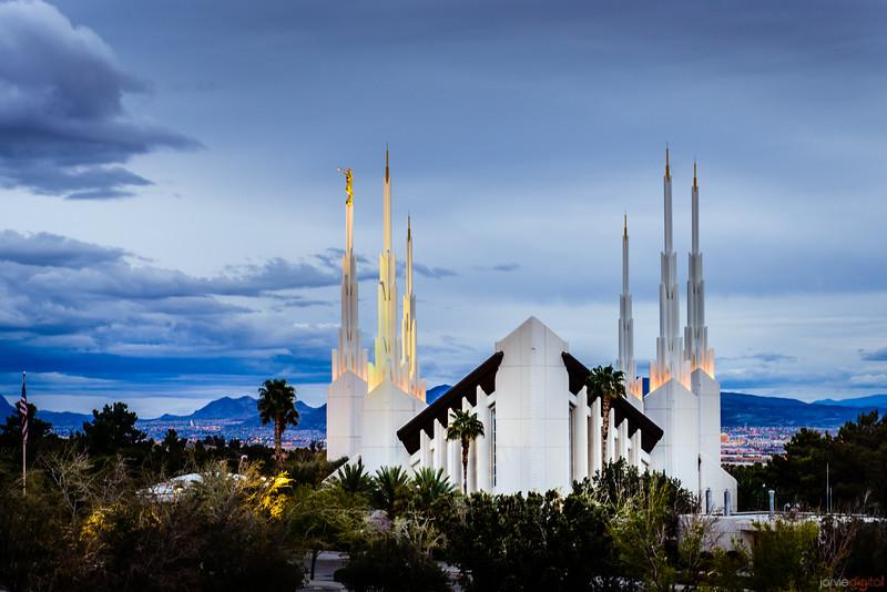 Las Vegas Temple Above the trees