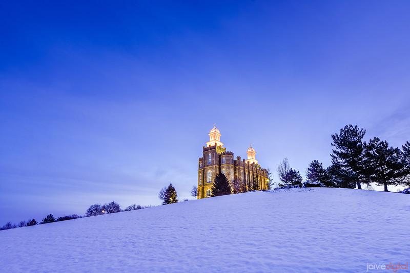 Logan Temple in the Snow (Downhill)
