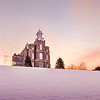Logan Temple - Sunrise in the Snow