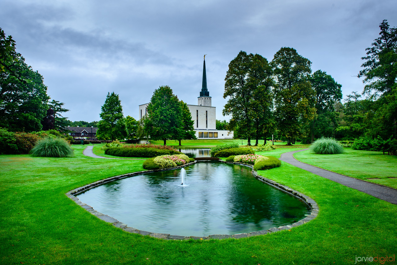 London Temple - Pond and Trail