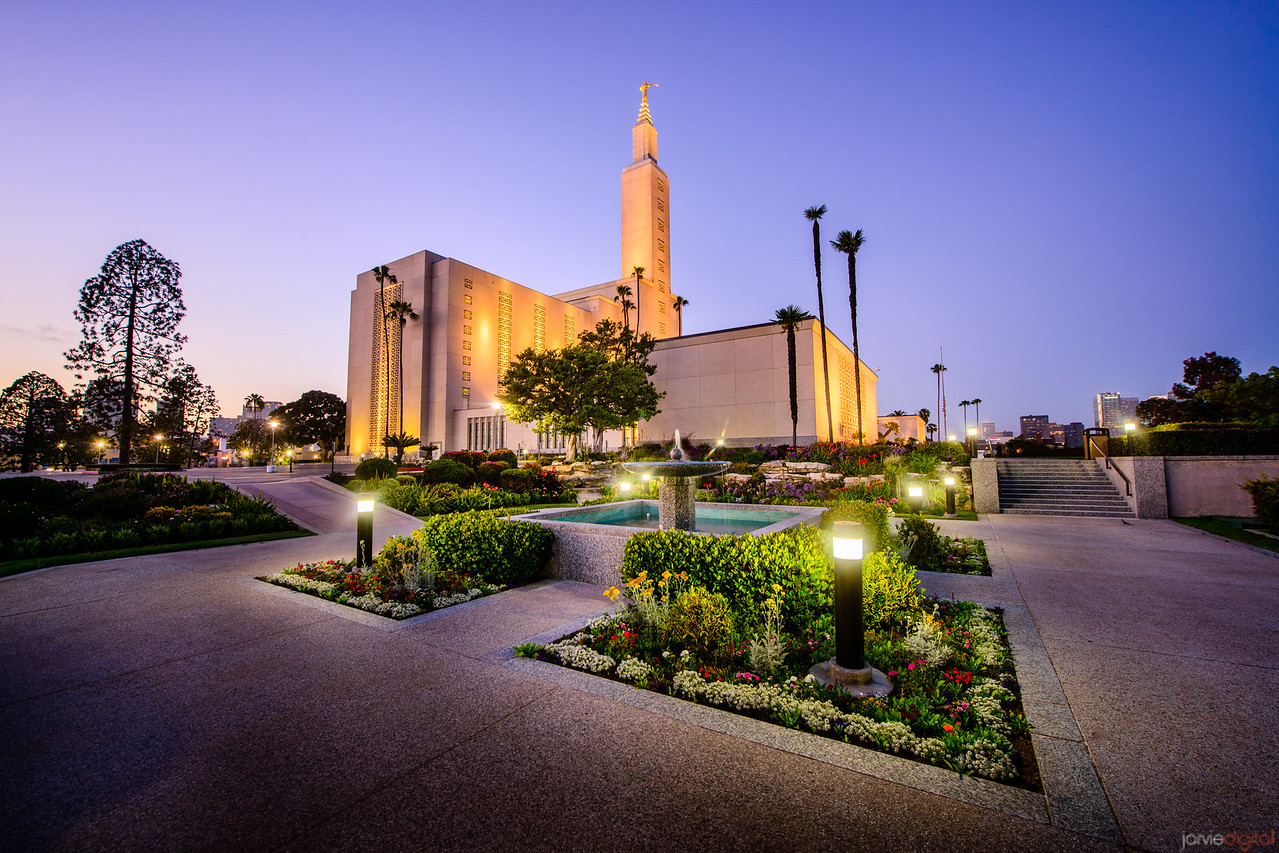 Los Angeles Temple Twilight (Corner)