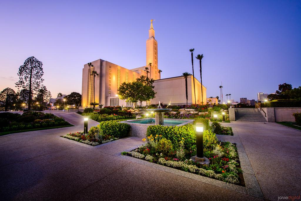 Los Angeles Temple Twilight (Corner)