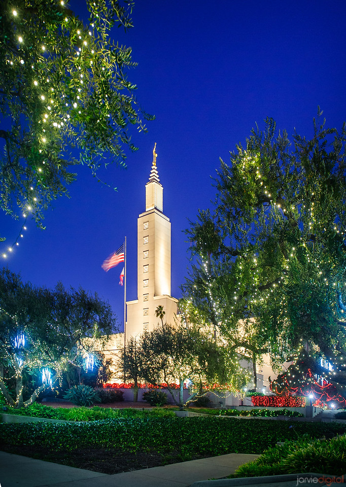 Los Angeles Temple - Christmas Green
