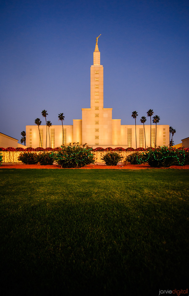 Los Angeles Temple Chirstmas lights