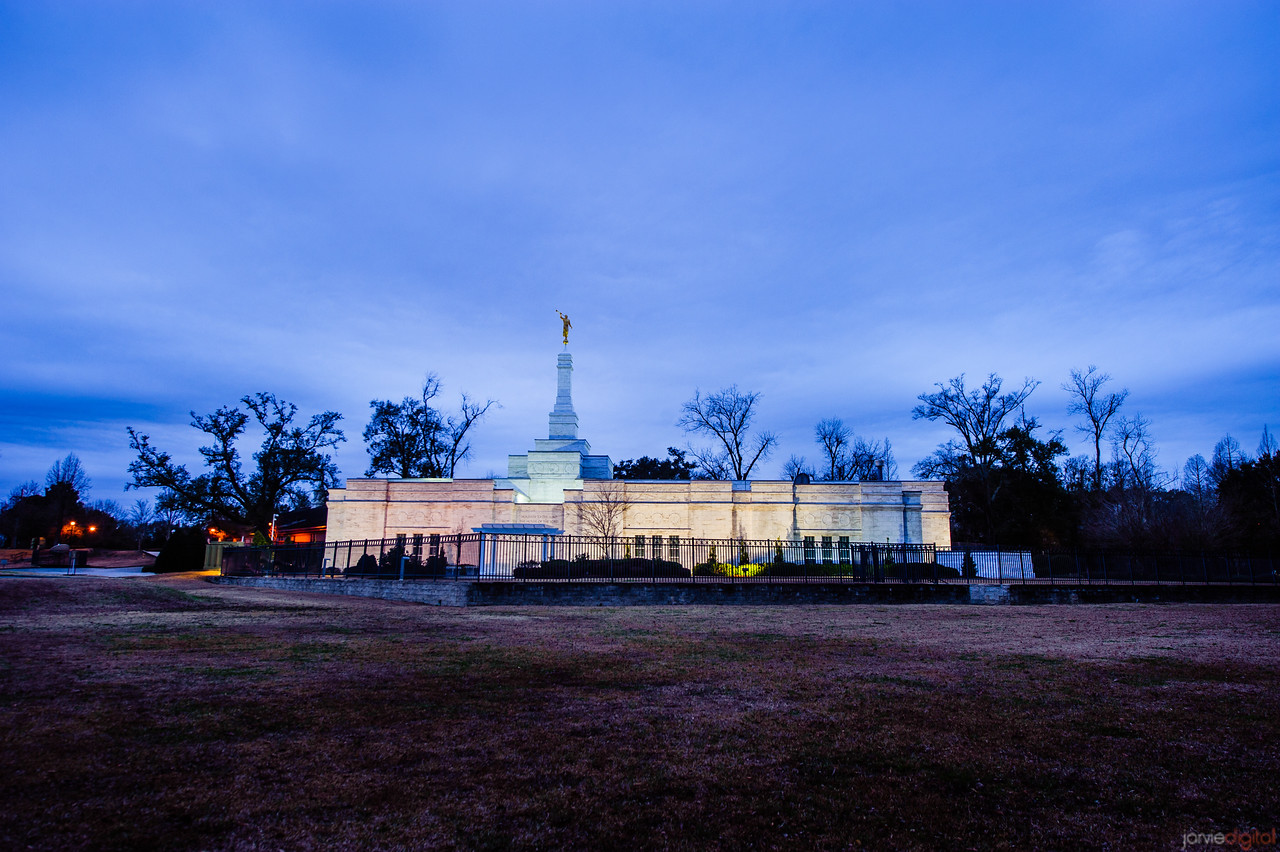 Baton Rouge Temple From Field