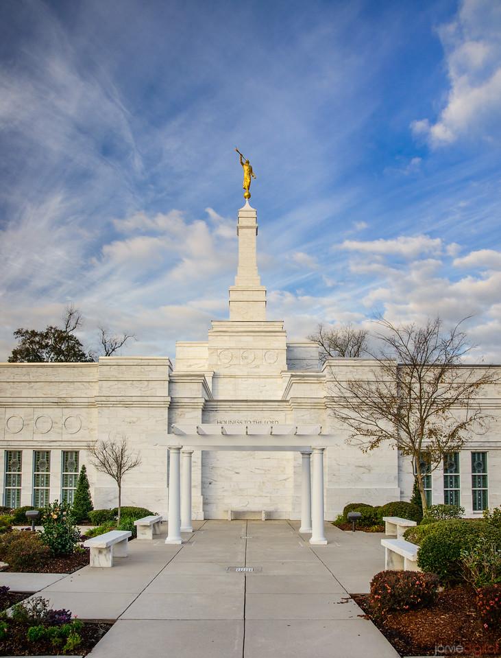 Baton Rouge Temple - Blue Skies behind