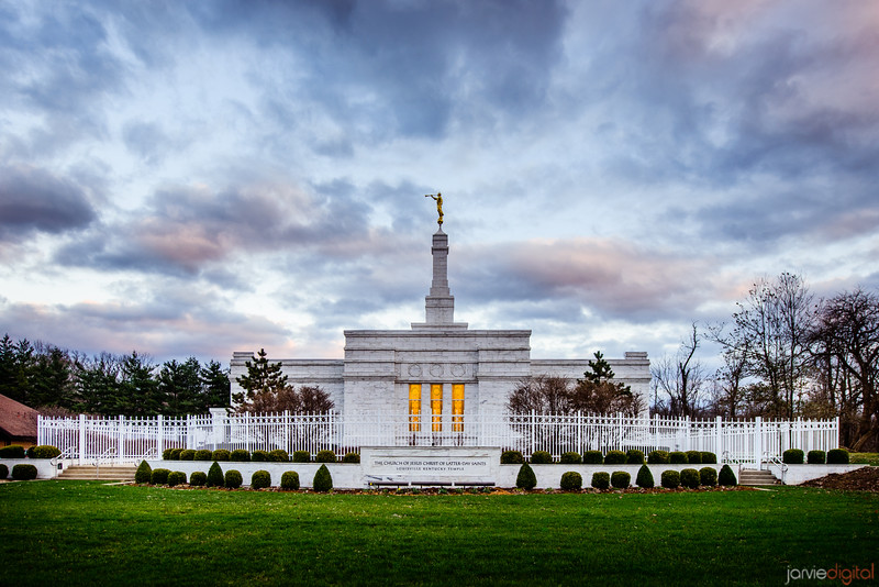 Louisville Temple Sunset