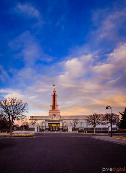 Lubbock Temple Vertical Sunrise