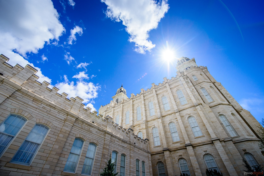 Manti Temple (From Below)