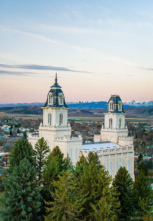 Manti Temple - Above the trees