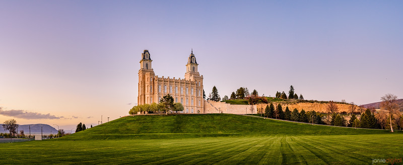 Manti Temple - Green and Blue