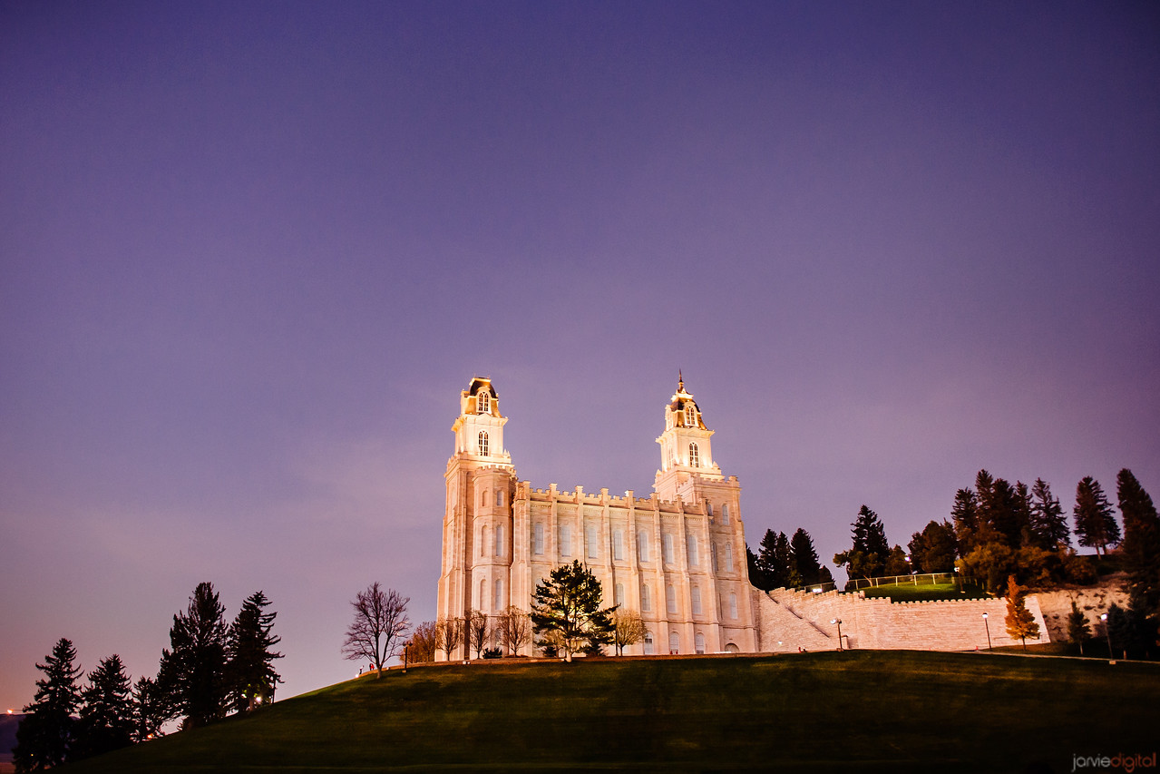 Manti Temple Up Hill