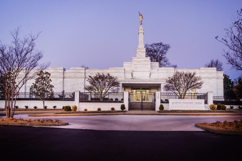 Memphis Temple Through Trees