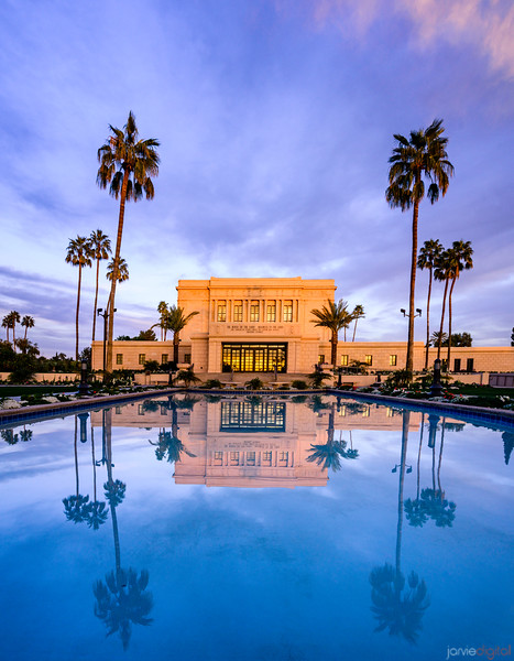 Mesa Temple - Sunset Reflections
