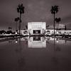 Mesa Temple BW Reflection