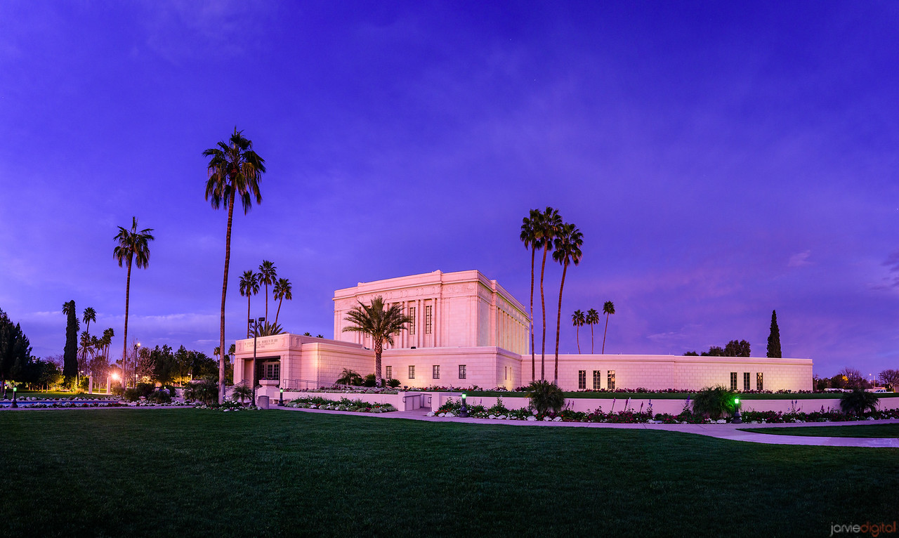 Mesa LDS Temple - Twilight blue