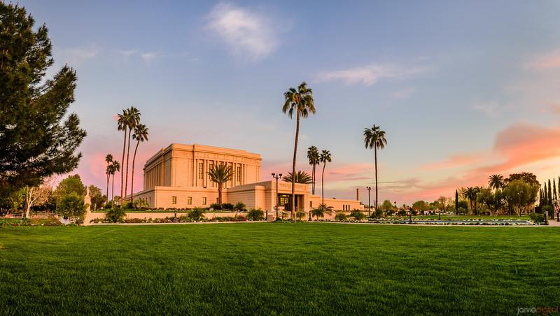 Mesa LDS Temple - Sunset layout