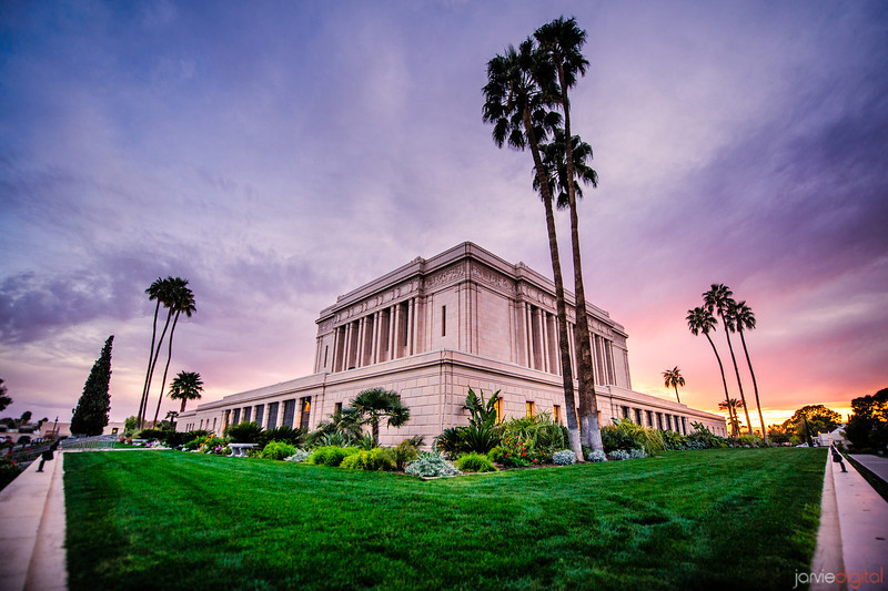 Mesa Temple Sunset from Corner