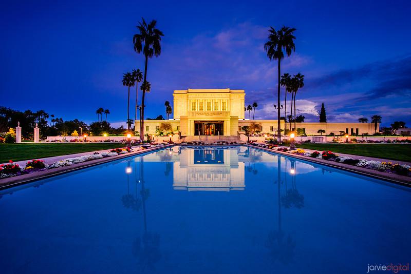 Mesa Temple Twilight Reflection