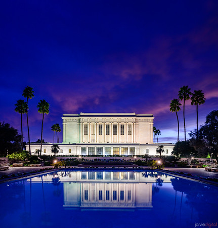 Mesa Temple - Twilight reflection