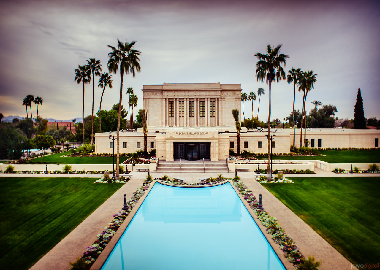 Mesa Temple high vantage half pool