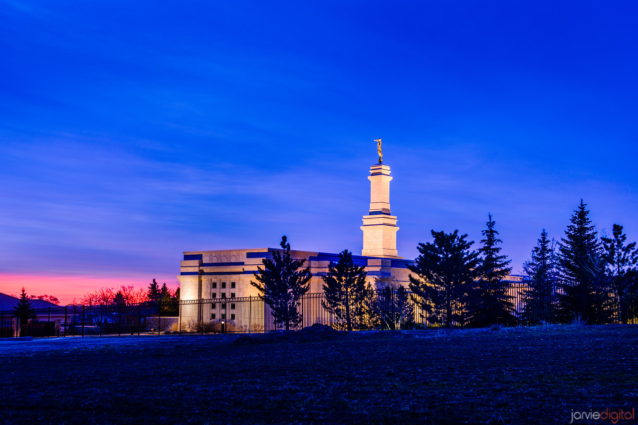 Monticello Temple Sunrise on Horizon