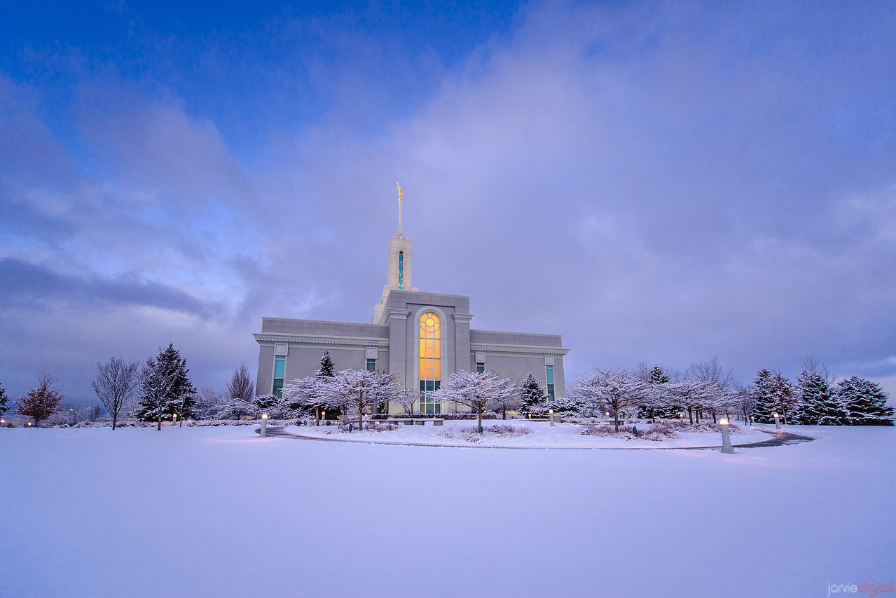 Timpanogos Temple Snowy Morning