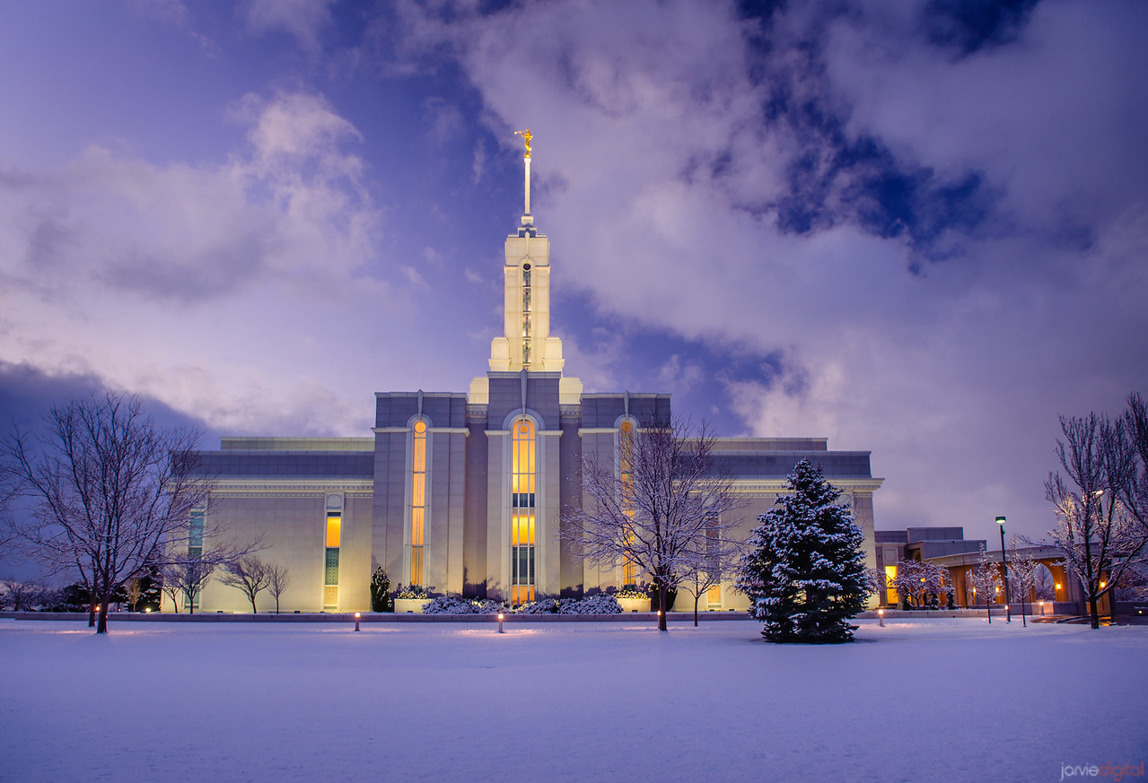 Timpanogos Temple Snow Horizontal