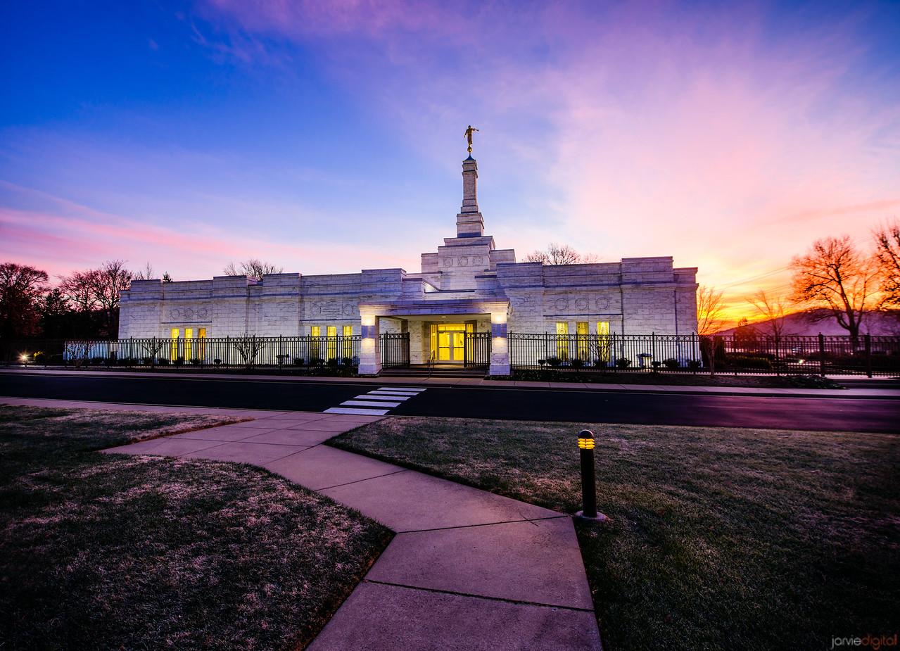 Nashville Temple Sunrise path