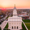 Nauvoo Temple - Sun on the horizon