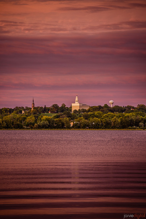 Nauvoo Temple Across the River