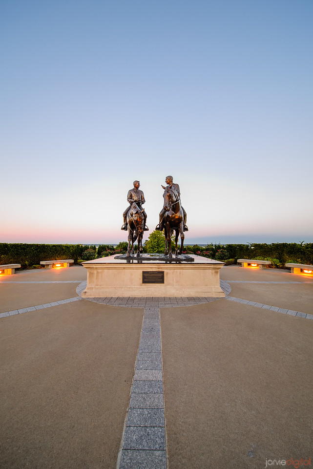 Nauvoo Temple - two riders