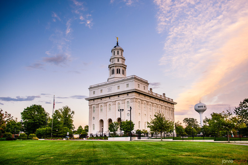 Nauvoo Temple Sunset