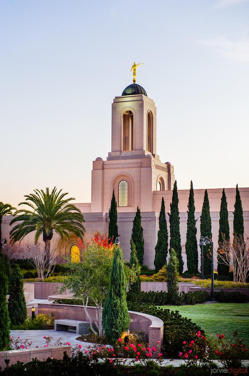 Newport Beach Temple Vegitation Vertical