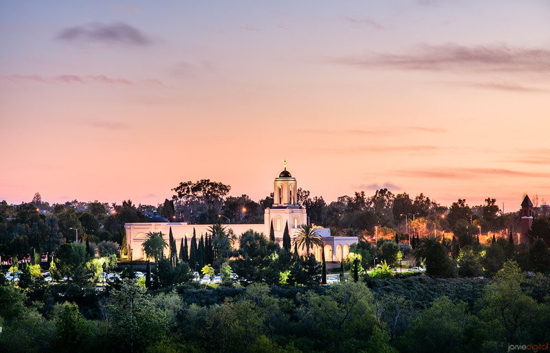 Newport Beach Temple - Like a beacon