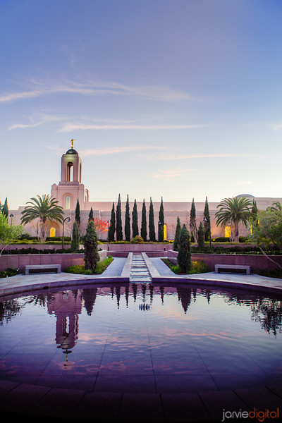 Newport Beach Temple Reflection