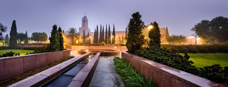 Newport Beach Temple - Living Fountain (Pano)