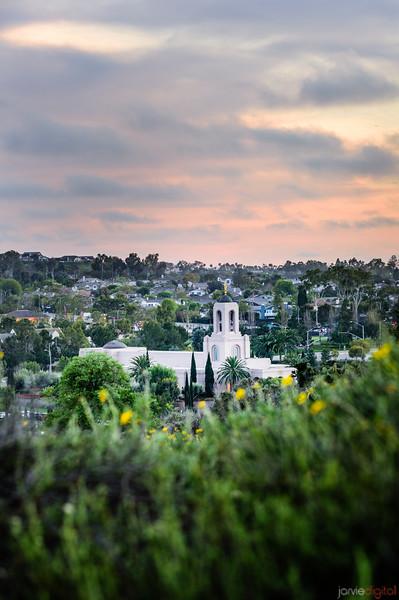 Newport Beach Temple - From the hills Vertical