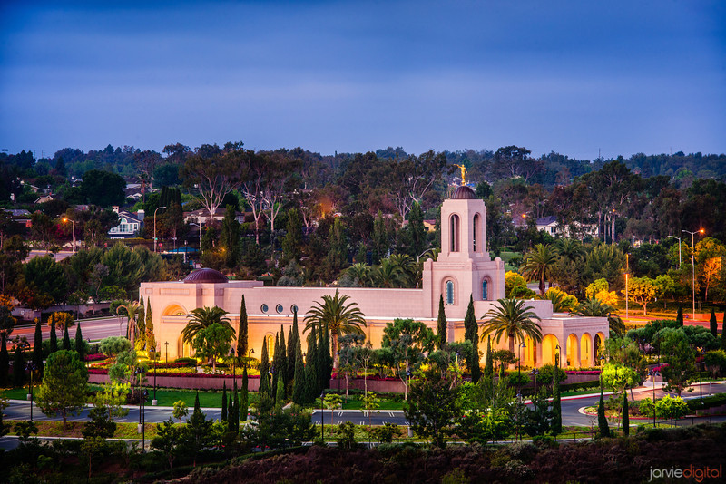 Newport Beach Temple (From Hill)