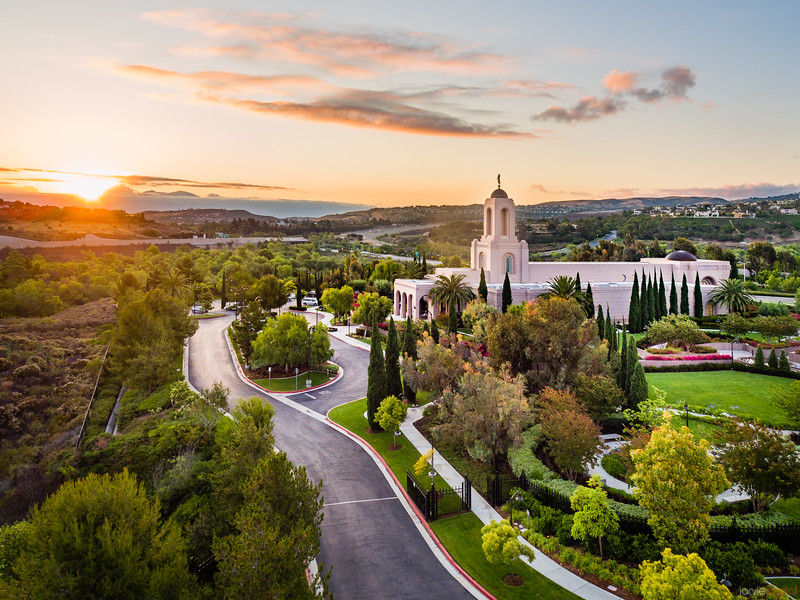 Newport Beach Temple - The morning breaks