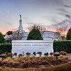 North Carolina Temple = Sunset Sign