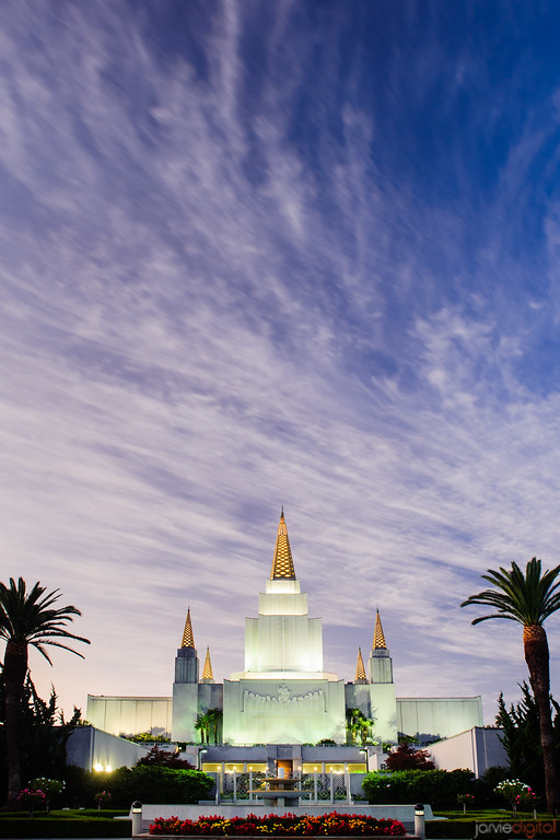 Oakland Temple Vertical Twilight