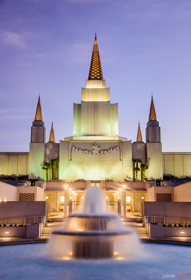 Oakland Temple Fountain