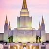 Oakland LDS temple Sunset