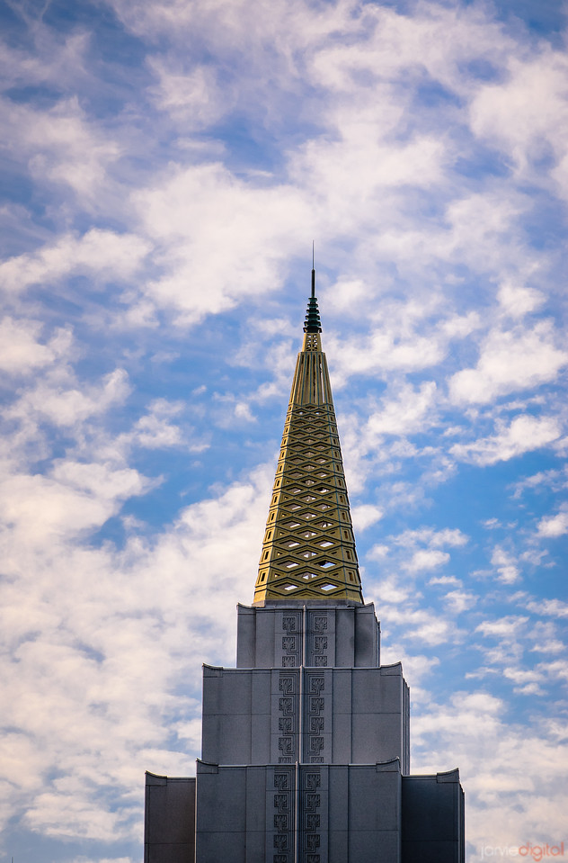 Oakland Temple Spire